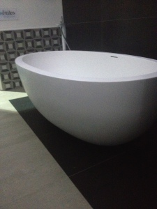 Oval bath tub display- Bathroom fitter - Cleary bathroom design