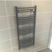 Matt hugo high output heated towel rad - All interior design by Cleary bathroom design