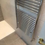 High output heated towel rad - Cleary Bathroom Design