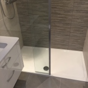 After image - shower enclosure and wall hung basin unit - Cleary Bathroom Design