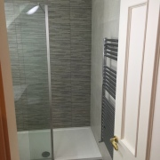 After image featuring shower enclosure, heated towel rad - Cleary Bathroom Design