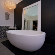Bathroom design dublin Oval bath tub display, featured at the Ideal Homes Show RSD - Cleary Bathroom Design