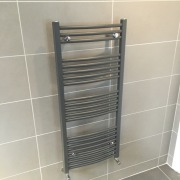 Matt hugo high output heated towel rad - All interior design by Cleary bathroom design