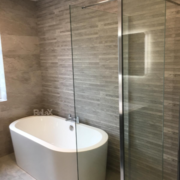 Freestanding bath and wetroom shower